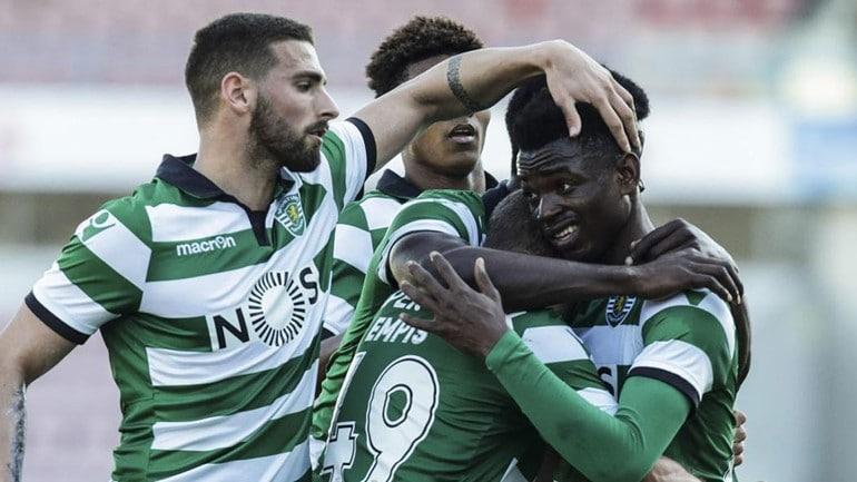 - sporting B - Gelson Dala presente no treino da Equipe A do Sporting de Portugal