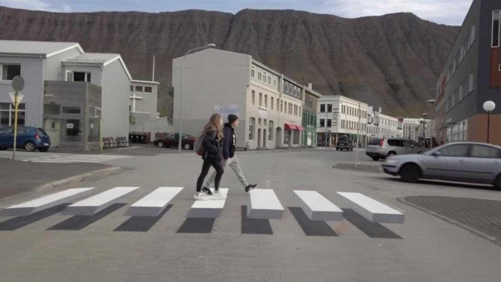 islândia estreia passadeira inovadora que 'obriga' condutores a travar - naom 59ce19252e064 - Islândia estreia passadeira inovadora que 'obriga' condutores a travar