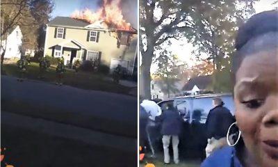 mulher faz reportagem em directo de incêndio... e descobre o culpado - VA Norfolk house fire Rhoda Young combine 400x240 - Mulher faz reportagem em directo de incêndio… e descobre o culpado