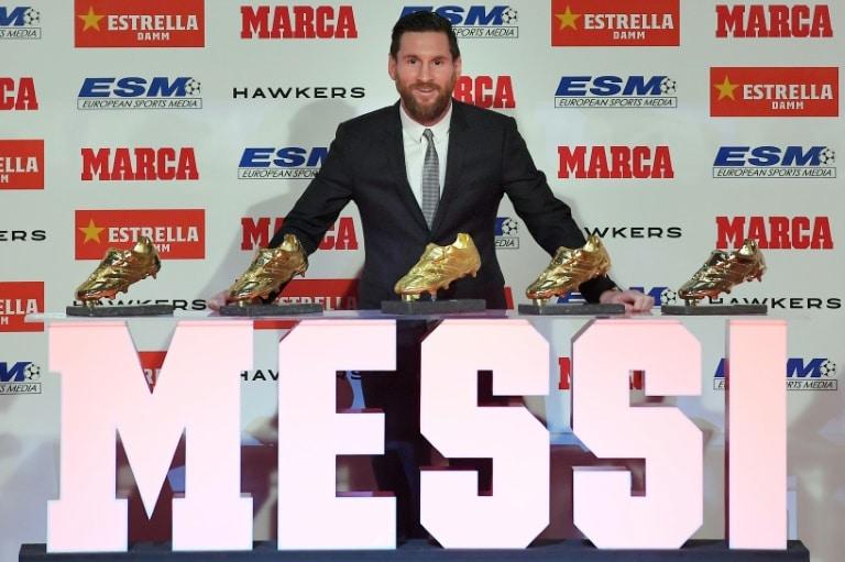 - Messi  - Messi recebe inédita quinta Chuteira de Ouro