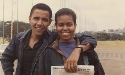 "- Barack e michel obama 400x240 - ""És única."" Barack Obama dá os parabéns a Michelle com fotografia de juventude"