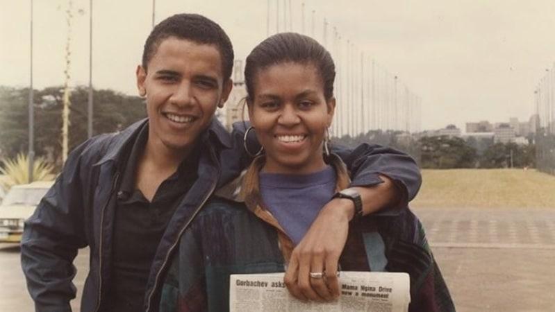 """És única."" barack obama dá os parabéns a michelle com fotografia de juventude - Barack e michel obama - ""És única."" Barack Obama dá os parabéns a Michelle com fotografia de juventude"