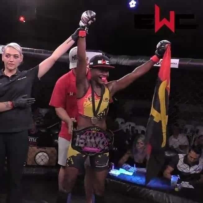 """angolana """"faia"""" conquista cinturão internacional do mma - FAIA - Angolana """"Faia"""" conquista cinturão internacional do MMA"""