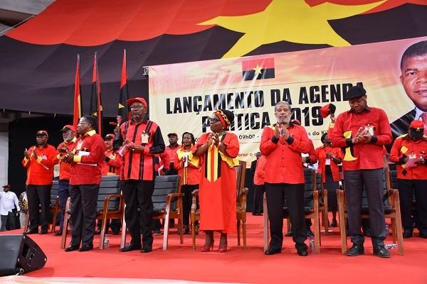 - MPLA Lan  amento agenda politica 2019 - Para 2019, MPLA promete uma acção governativa rigorosa e patriótica