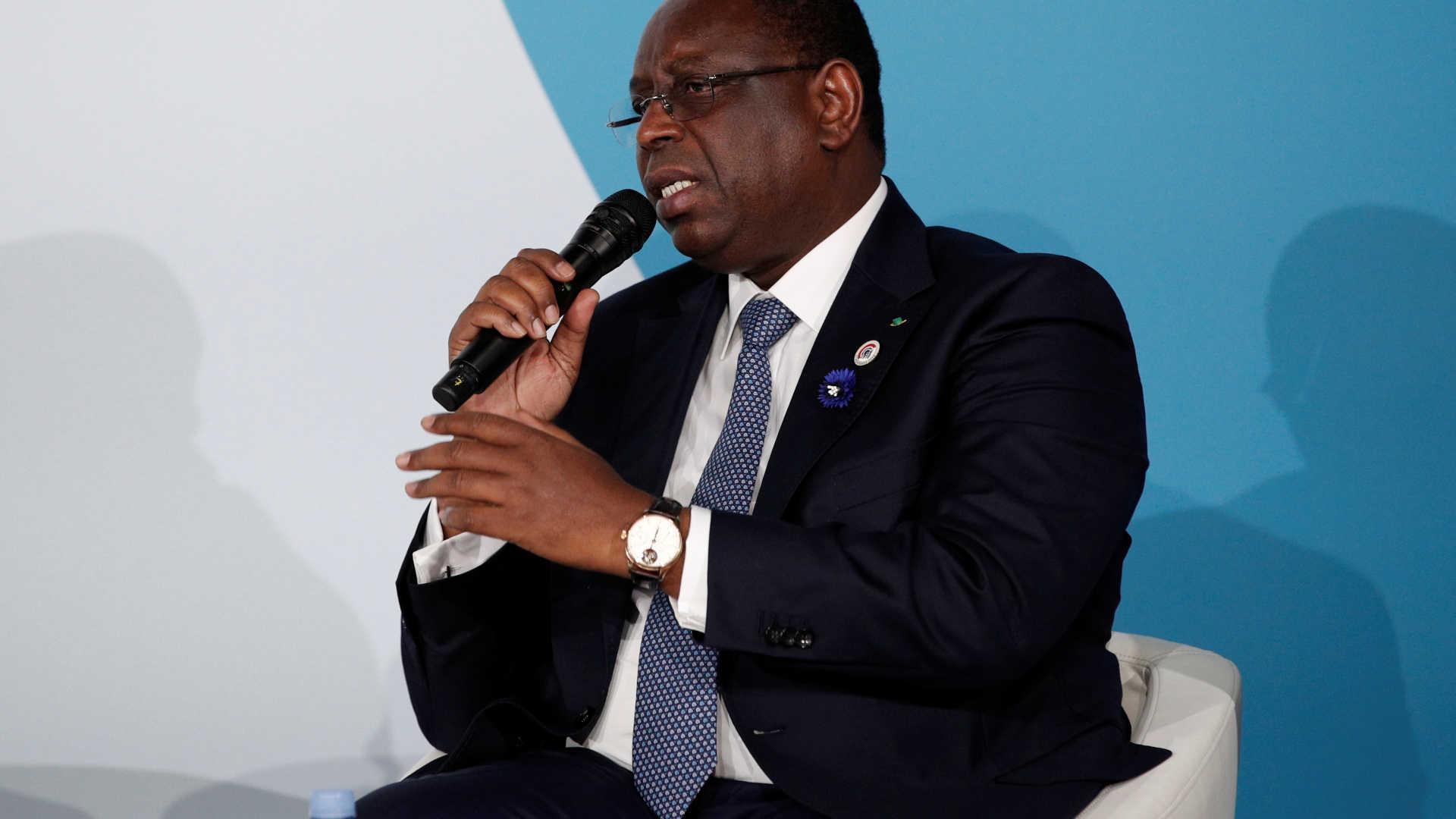 presidente senegalês macky sall reeleito à primeira volta - Macky Sall  - Presidente senegalês Macky Sall reeleito à primeira volta