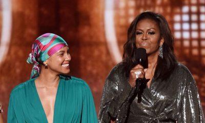 - Mchelle Obama grammys 400x240 - Michelle Obama faz discurso emocionante no Grammy 2019
