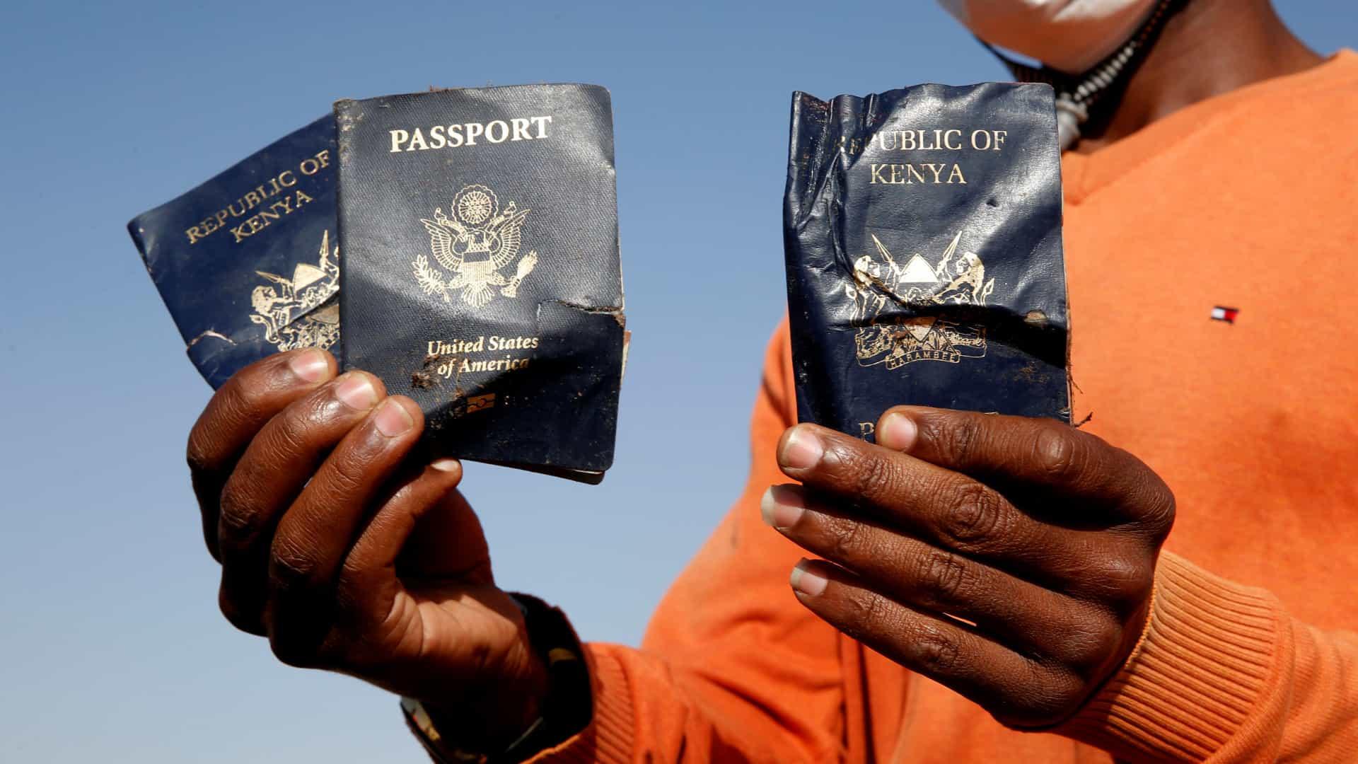 nove consultores da união africana vítimas da queda de avião na etiópia - acidente passaporte  - Nove consultores da União Africana vítimas da queda de avião na Etiópia