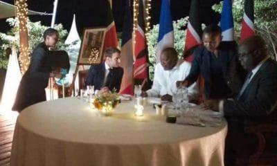 [object object] - jantar privado tshisekedi macron kenyatta 400x240 - RDC: Presidente francês pede a Tshisekedi para se afastar de Kabila