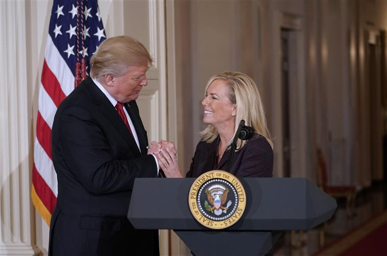 secretária de segurança interna deixa governo de trump - Trump e Kirstjen Nielsen - Secretária de Segurança Interna deixa governo de Trump