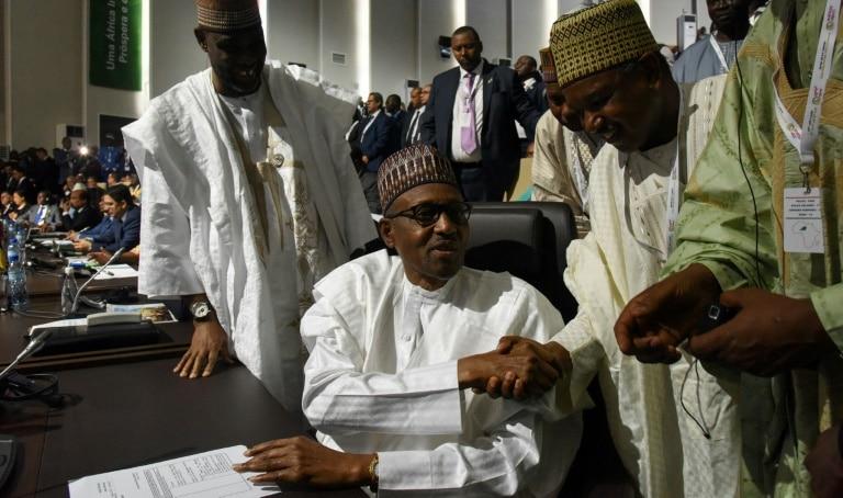 união africana lança zona de livre-comércio durante cúpula no níger - Muhammadu Buhari - União Africana lança zona de livre-comércio durante cúpula no Níger