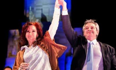 - Alberto Fernandez e Cristina Kirchner 400x240 - Favoritos em eleição presidencial argentina assinam manifesto pró-Lula