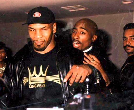 - tyson tupac 560x459 - Mike Tyson revela sua lista dos 50 melhores rappers de todos os tempos