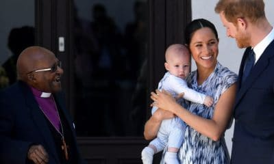 principe harry leva a familia ao encontro do nobel da paz, desmond tutu - duques de Sussex e Desmo tuto 400x240 - Principe Harry leva a familia ao encontro do Nobel da Paz, Desmond Tutu