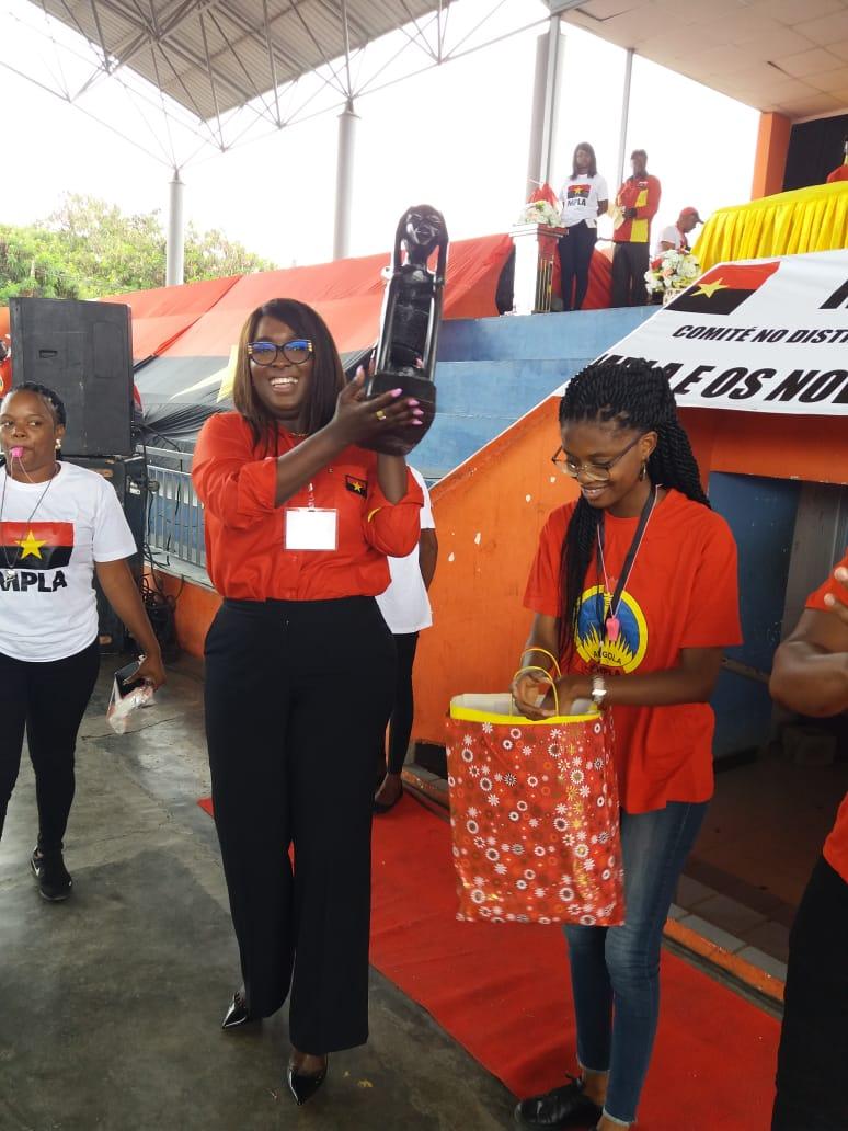 milca caquesse eleita primeira secretária do mpla no distrito urbano da maianga - WhatsApp Image 2019 10 26 at 13 - Milca Caquesse eleita primeira secretária do MPLA no Distrito Urbano da Maianga