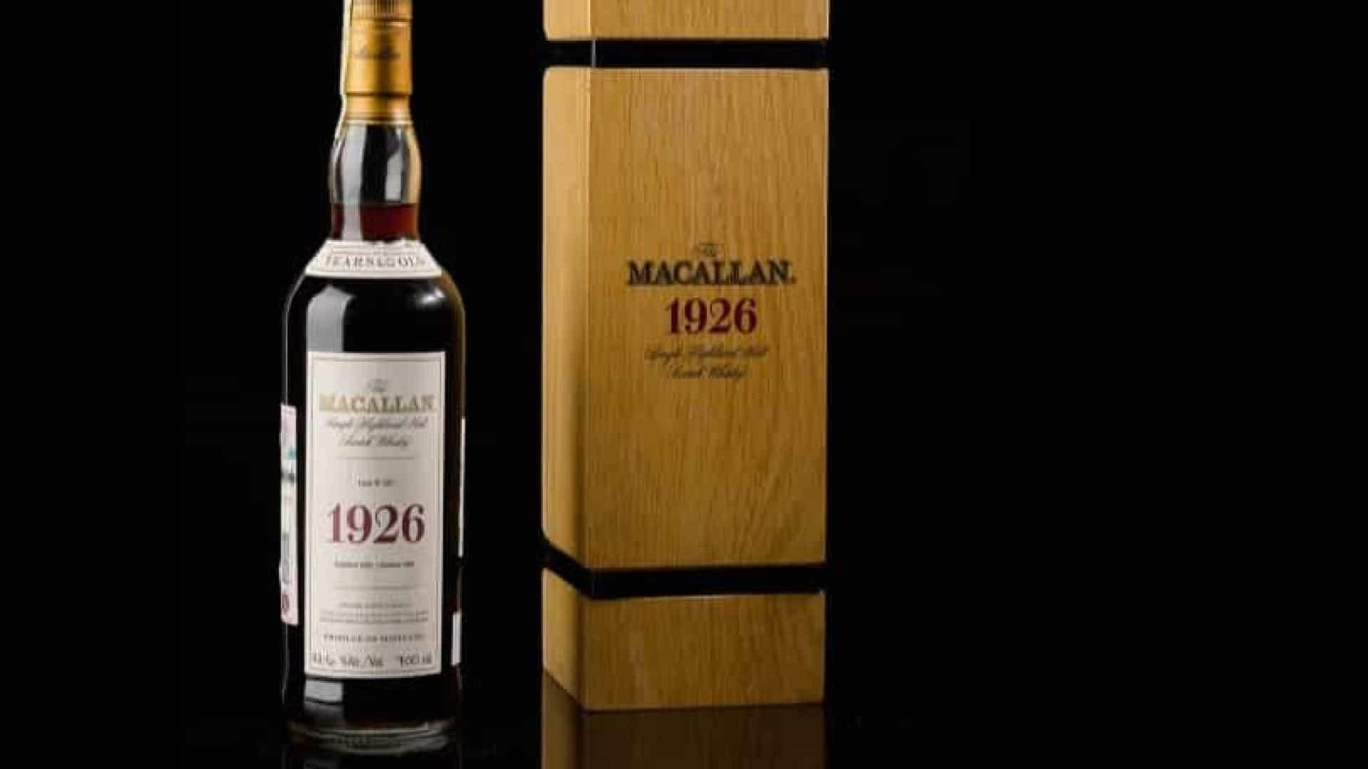 garrafa de whisky da macallan de 1926 foi vendida por 1,7 milhões de euros - garrafa de whisky da Macallan de 1926 - Garrafa de whisky da Macallan de 1926 foi vendida por 1,7 milhões de euros