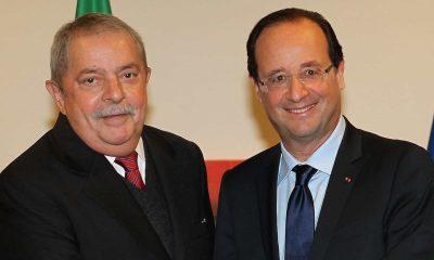 - LULA e HOLAND 400x240 - Políticos da esquerda europeia celebram libertação de Lula da Silva